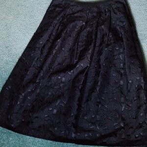 Talbots silk cutwork skirt